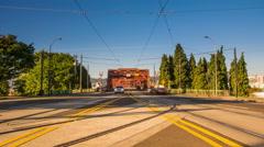 Portland Broadway Bridge Morning Traffic - 4k Timelapse Stock Footage