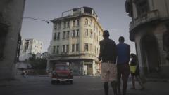 La habana street in Cuba Stock Footage