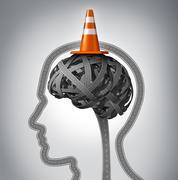 Human brain repair Stock Illustration