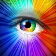 spectrum eye - stock illustration