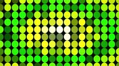 Abstract green flashing circles - stock footage