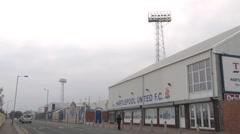 Hartlepool United Football Club Stock Footage