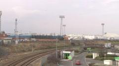 Football Stadium and Railway Stock Footage