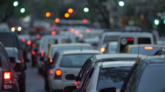 Traffic jam in the city -Dusk. 4k Stock Footage