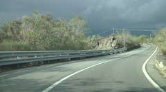 Mount Etna road POV driving. Stock Footage