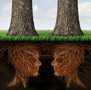 business roots - stock illustration