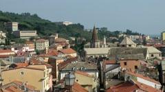 Europe Italy Liguria region Finalborgo village 014 cityscape from above Stock Footage
