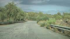 Mount Etna road POV driving. N 81 Stock Footage
