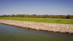 slovakia gabcikovo danube dam - stock footage