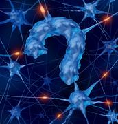 neurology questions - stock illustration