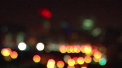 City Lights At Night Stock Footage