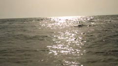 There is a sunny path at-sea Stock Footage
