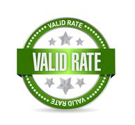 Stock Illustration of valid rate seal illustration design