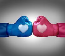 Fighting for love Stock Illustration