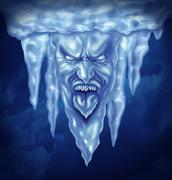 deep freeze - stock illustration