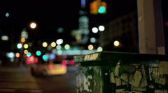 Electric Box Manhattan New York City Freedom Tower NYC Night Traffic Cars Lights Stock Footage