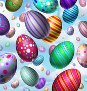 easter egg celebration - stock illustration