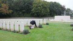 MVI 1187 Sanctuary Wood Cemetery, Ypres Stock Footage