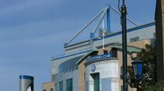 Chelsea Football stadium,  Stamford Bridge Stock Footage