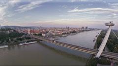 Bratislava bridge Stock Footage
