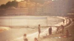 Sunset Summer Dream Portobello Sestri Levante Italy - 29,97FPS NTSC Stock Footage