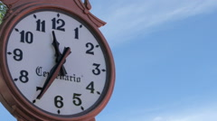 Public clock, clockwise are moving faster. Mexico-2014. TIME LAPSE-MEDIUM SHOT. Stock Footage