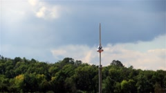 Lightning Rod. Wind and Clouds Before the Rain. Stock Footage