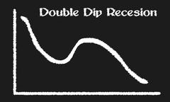Double dip recession Stock Illustration
