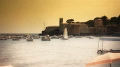 Twilight Bay Sestri Levante - 29,97FPS NTSC Stock Footage