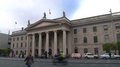 Dublin General Post Office Building Stock Footage