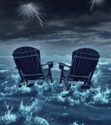 retirement crisis - stock illustration