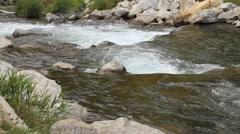 Mountain stream gentile rapids - stock footage