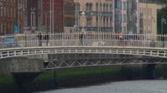 Ha'Penny Bridge Stock Footage