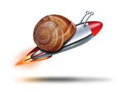 Fast snail Stock Illustration