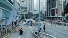 Hong Kong - Pro-democracy demonstrations Stock Footage