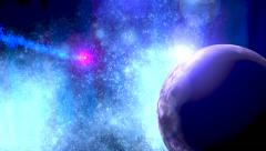 Shooting star in deep space Stock Footage
