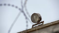 Barbed wire on the walls of the prison, Nikolaev, Ukraine 1 Stock Footage