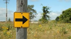Arrow sign in the country. Stock Footage