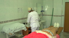 Nurse caring for the sick, Ukraine, Nikolaev 3 Stock Footage