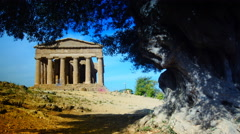 The ruins of Valley of the Temples, Agrigento, Sicily,time lapse,4k Stock Footage