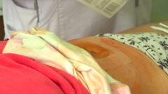 Nurse caring for the sick, Ukraine, Nikolaev 2 Stock Footage