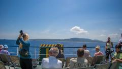 People on a ferry - time lapse - stock footage