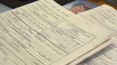 Nurse fills medical cards, Nikolaev, Ukraine 1 Stock Footage