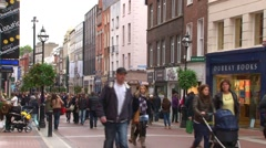 Dublin Grafton Street Stock Footage
