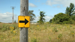 Arrow sign in the country. - stock footage