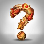 Stock Illustration of dieting questions