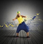 rap dancer - stock photo