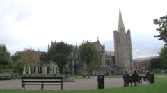 Dublin St Patrick's Cathedral - stock footage