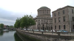 Dublin Four Courts Stock Footage