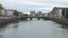Dublin River Liffey Stock Footage